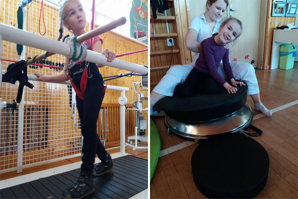 Emička Zouharová při rehabilitaci | Foto: Facebook Cesta za sny