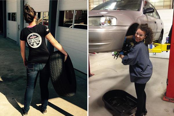 Ženská autoklinika nabízí skutečné servisní služby | Foto: Facebook @GirlsAutoClinic